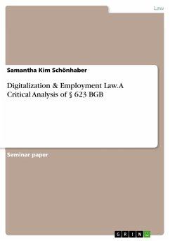 Digitalization & Employment Law. A Critical Analysis of § 623 BGB (eBook, PDF)