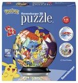 Ravensburger 11785 - Pokémon, 3D-Puzzleball, 72 Teile