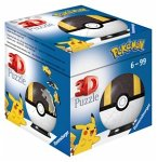 Ravensburger 11266 - Pokémon Pokéballs, Hyperball, 3D-Puzzelball, 54 Teile