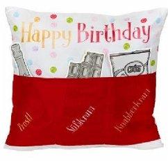Sofahelden Happy Birthday rot