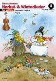 Die schönsten Herbst- und Winterlieder. 1-2 Violinen