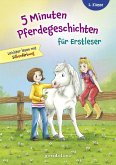 5 Minuten Pferdegeschichten für Erstleser, 2. Klasse - Leichter lesen mit Silbenfärbung