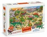 Mein riesengroßes Dinosaurier Wimmelpuzzle (Kinderpuzzle)