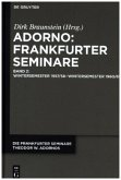 Adorno: Frankfurter Seminare