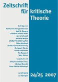 Zeitschrift für kritische Theorie / Zeitschrift für kritische Theorie, Heft 24/25 (eBook, PDF)