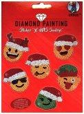"""Diamond Painting Sticker """"X-Mas Smileys"""""""