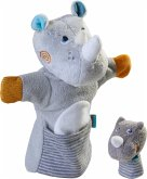 HABA 305755 - Handpuppe Nashorn mit Baby, 2-teilig, 30 cm