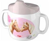 HABA 305696 - Trinklerntasse Pferde, Kindertasse