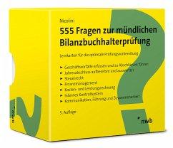 555 Fragen zur mündlichen Bilanzbuchhalterprüfung - Nicolini, Hans J.