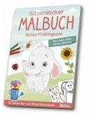 Glitzer-Sticker-Malbuch Frühling