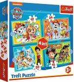 4 in 1 Puzzle - Paw Patrol (Kinderpuzzle)