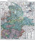 Historische Karte: Provinz SACHSEN nebst Thüringen und Anhalt im Deutschen Reich - um 1913 [gerollt]
