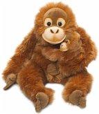 WWF Plüsch 16112 - Orang-Utan Mutter mit Baby, Asien-Kollektion, Plüschtier, 25 cm