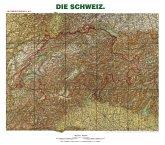 Historische Karte: Die SCHWEIZ - um 1905 [gerollt]