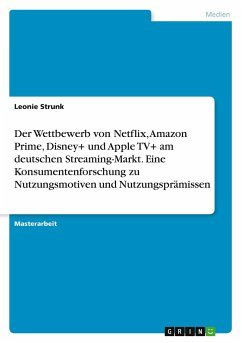 Der Wettbewerb von Netflix, Amazon Prime, Disney+ und Apple TV+ am deutschen Streaming-Markt. Eine Konsumentenforschung zu Nutzungsmotiven und Nutzungsprämissen
