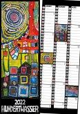 Hundertwasser Streifenkalender Art 2022