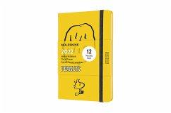 Moleskine 12 Monate Wochen Notizkalender 2022 Peanuts, Pocket/A6, 1 Wo = 1 Seite, rechts linierte Seite, Gebunden, Gelb