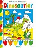 Mein Malbuch mit Malkasten: Dinosaurier