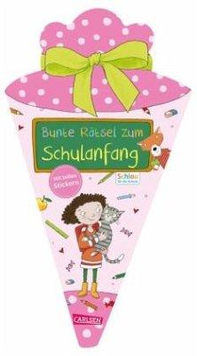 Schlau für die Schule: Bunte Rätsel zum Schulanfang mit Stickern (Schultüte für Mädchen) - Fuchs, Caroline