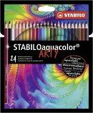 STABILO Aquarell-Buntstifte aquacolor ARTY 24er Set