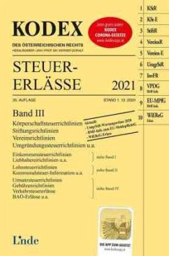 KODEX Steuer-Erlässe 2021 Band III - Titz-Frühmann, Elisabeth