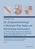 """Die """"Kriegsverbrecherfrage"""" in Rheinland-Pfalz, Baden und Württemberg-Hohenzollern"""