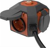 REV PowerGlobe Steckdosenwürfel 4xSchutzkontakt 1,4m
