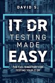 IT DR Testing made easy: The full directory for testing your IT DR