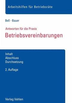 Betriebsvereinbarungen - Bell, Regina;Bauer, Anna