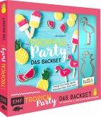 Tropical Party - das Backset mit Rezepten und Ananas- und Flamingo-Ausstecher aus Edelstahl - Limitierte Sonderausgabe