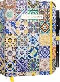 "Bullet Journal ""Ornamental Marokko"" mit original Tombow TwinTone Dual-Tip Marker 33 black"