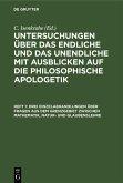 Drei Einzelabhandlungen über Fragen aus dem Grenzgebiet zwischen Mathematik, Natur- und Glaubenslehre (eBook, PDF)