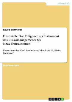 Finanzielle Due Diligence als Instrument des Risikomanagements bei M&A-Transaktionen (eBook, PDF)