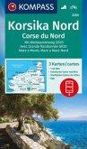 KOMPASS Wanderkarte Korsika Nord, Corse du Nord, Weitwanderweg GR20