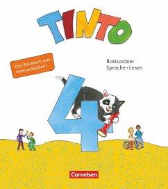 Tinto Sprachlesebuch 4. Schuljahr - Basisordner Sprache und Lesen zum Hineinschreiben - Verbrauchsmaterial mit Wörterliste und BuchTaucher-App