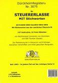 DürckheimRegister für SteuerErlasse EStG-LSt-KStG-UStG-AO mit Stichworten (2021)