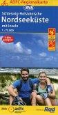 ADFC-Regionalkarte Schleswig-Holsteinische Nordseeküste mit Inseln 1:75.000, reiß- und wetterfest, GPS-Tracks Download