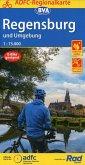 ADFC-Regionalkarte Regensburg und Umgebung mit Tagestouren-Vorschlägen, 1:75.000, reiß- und wetterfest, GPS-Tracks Downl