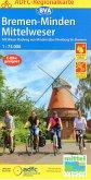 ADFC-Regionalkarte Bremen-Minden Mittelweser, 1:75.000, reiß- und wetterfest, GPS-Tracks Download