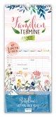 Trötsch Familienkalender Familientermine Aquarell Blume 2022