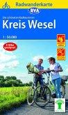 Radwanderkarte BVA Die schönsten Radtouren im Kreis Wesel 1:50.000, reiß- und wetterfest, GPS-Tracks Download