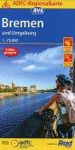 ADFC-Regionalkarte Bremen und Umgebung, 1:75.000, reiß- und wetterfest, GPS-Tracks Download