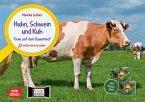 Huhn, Schwein und Kuh. Tiere auf dem Bauernhof. Kamishibai Bildkarten und Memospiel
