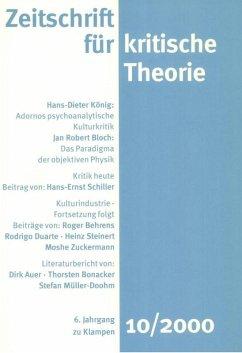Zeitschrift für kritische Theorie / Zeitschrift für kritische Theorie, Heft 10 (eBook, PDF)