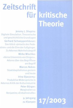 Zeitschrift für kritische Theorie / Zeitschrift für kritische Theorie, Heft 17 (eBook, PDF)