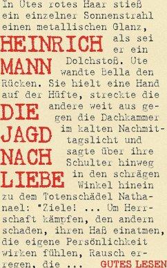 Die Jagd nach Liebe (eBook, ePUB) - Mann, Heinrich