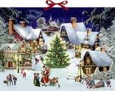 Wandkalender - Weihnachten im Dorf
