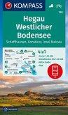 KOMPASS Wanderkarte Hegau Westlicher Bodensee, Schaffhausen, Konstanz, Insel Mainau