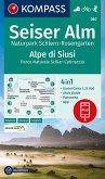 KOMPASS Wanderkarte Seiser Alm, Naturpark Schlern-Rosengarten, Alpe di Siusi