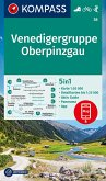 KOMPASS Wanderkarte Venedigergruppe; Oberpinzgau